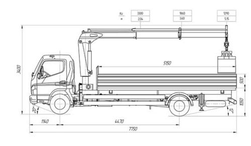 Структурная схема манипулятора Mitsubishi Fuso Canter
